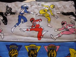 画像2: USED FABRIC CHARACTER SHEETS (POWER RANGERS)