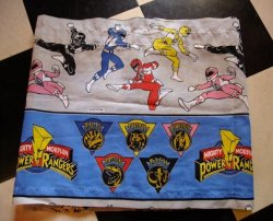 画像1: USED FABRIC CHARACTER SHEETS (POWER RANGERS)