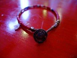 """画像2: amp japan """"LIBERTY """" -IN GOD WE WE TRUST- african disk beads bracelet RD"""