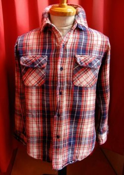 画像1: USED CHECK HEAVY FLANNEL SHIRTS