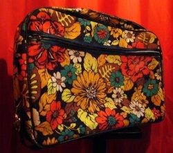 画像1: USED BAG (70's 花柄トランク)